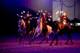 Gille Frotier spectacle nocture haras