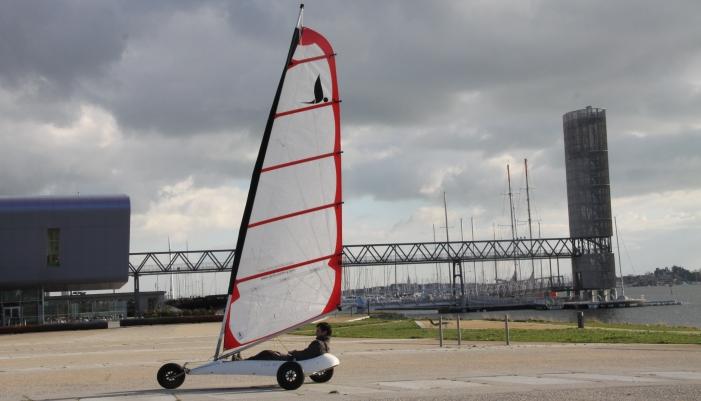 Char à voile plage Lorient