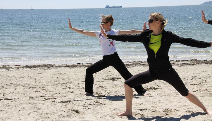 renforcement musculaire sur la plage à larmor plage
