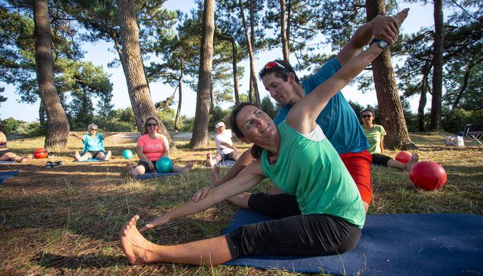 renforcement musculaire en extérieur à larmor plage