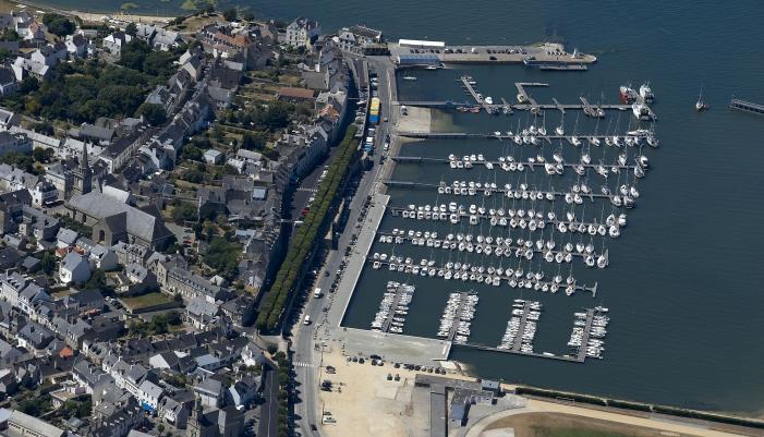 vue aérienne Port-Louis