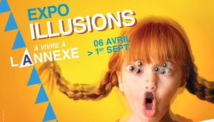 affiche exposition illusions à la cité de la voile