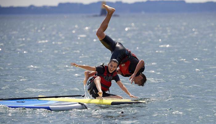 Activité paddle à Larmor-Plage